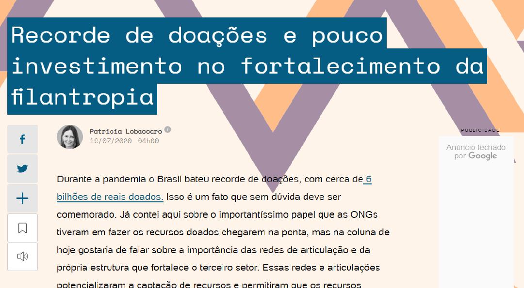 FJLES é apontada como uma das principais apoiadora do ecossistema da filantropia no Brasil
